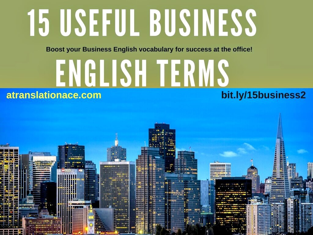 15 Business English Terms