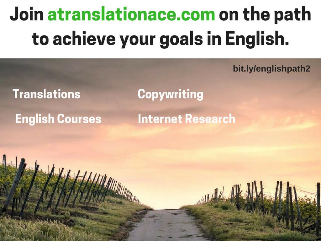 Atranslationace - Translations - English Courses - Copywriting - Internet Research