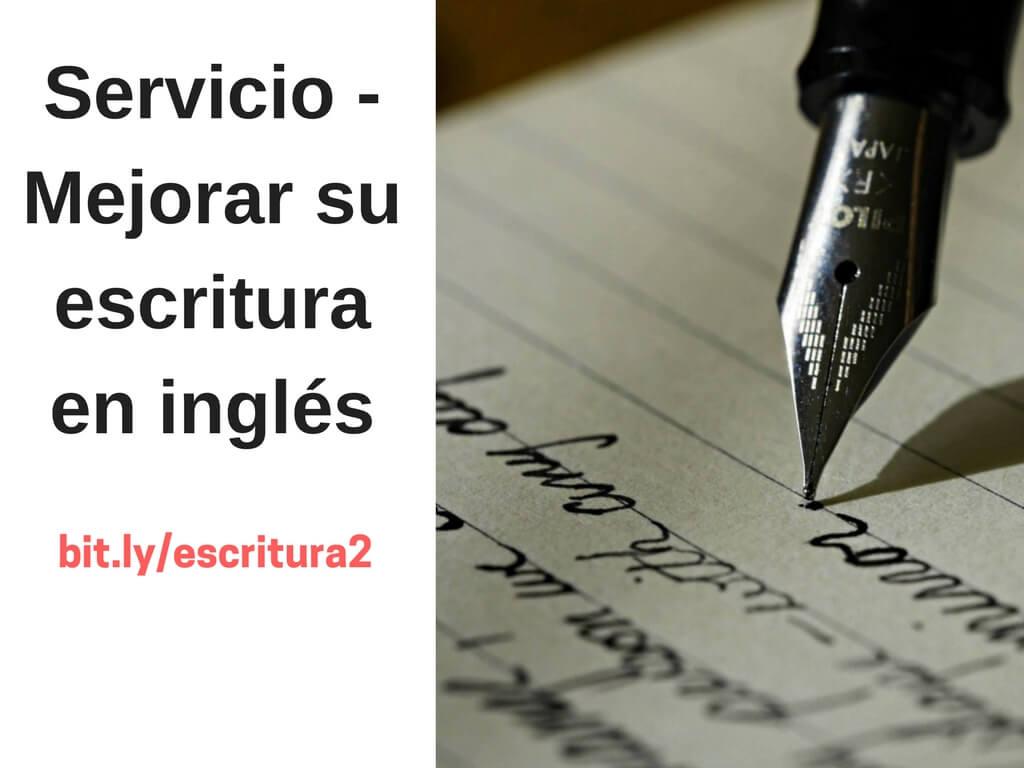 Mejorar escritura en inglés