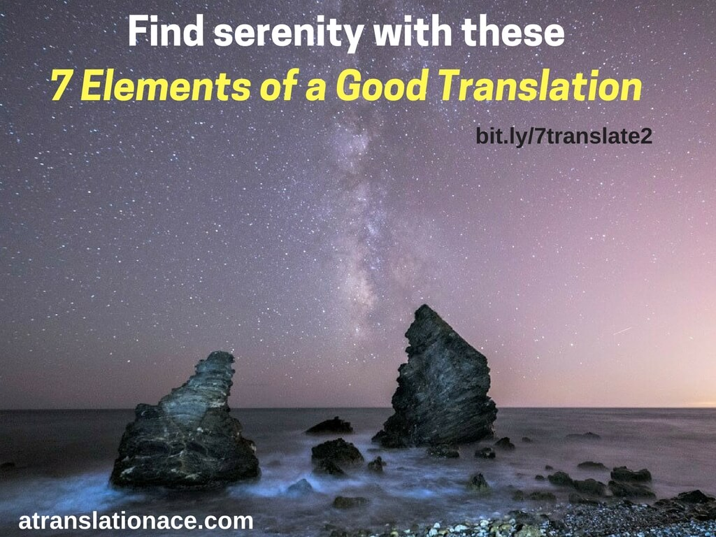 good Translation 7 Elements