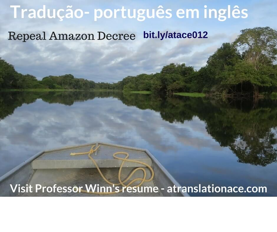 Portuguese-English-tradução Amazon Decree