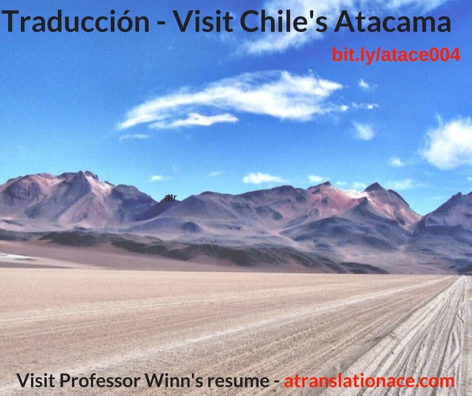 Traducción - Visit Chile's Atacama sm