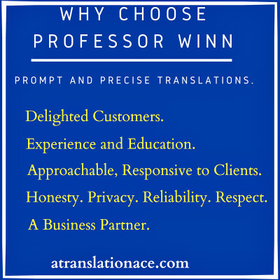 Why Choose Professor Winn for Legal Translation