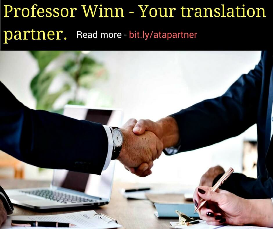 Professor Winn - your translation partner!
