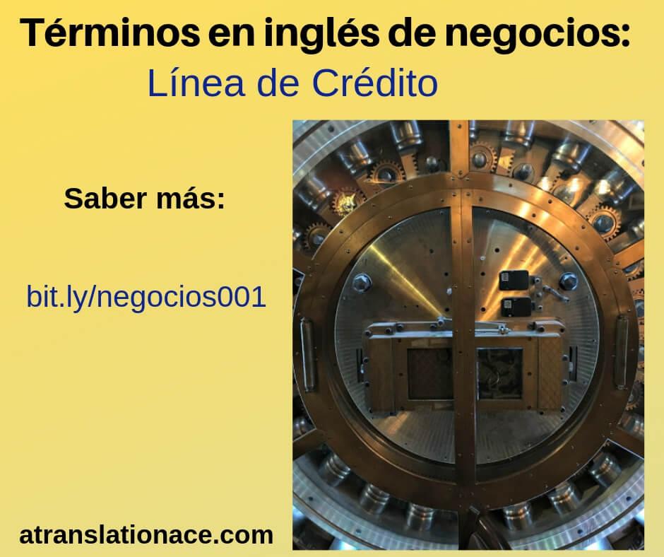 Términos en inglés de negocios - Línea de crédito