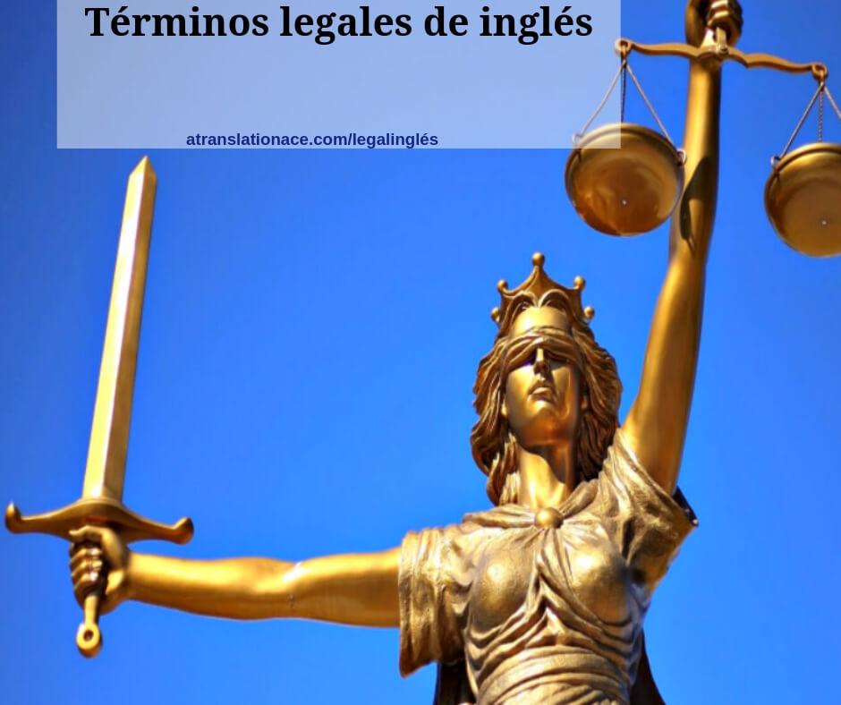 Términos legales de inglés