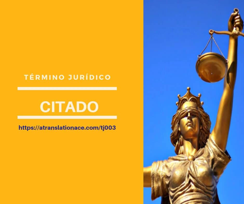 Término Jurídico - Citado