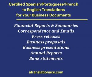 Spanish Portuguese French Translations - Business